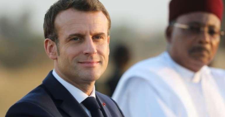 Sahel commitment: Macron alongside President Mahamadou Issoufou in Niamey last December.  By Ludovic MARIN (POOL/AFP)
