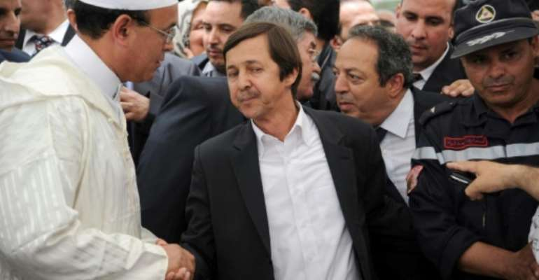 Said Bouteflika (centre), brother of Algeria's ex-president Abdelaziz Bouteflika, pictured in 2012.  By FAROUK BATICHE (AFP/File)