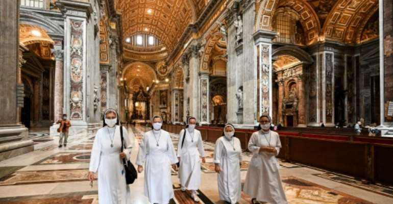 Saint Peter's Basilica in the Vatican was reopened to the public.  By Vincenzo PINTO (AFP)