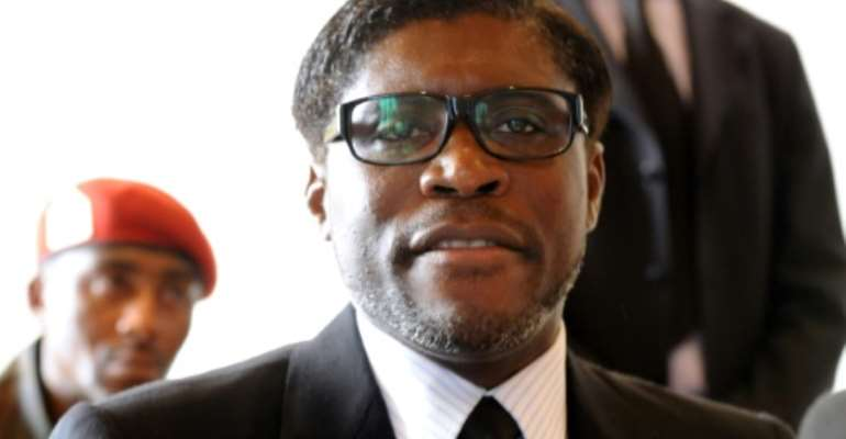 Sanctions: Teodorin Obiang, in a 2012 file picture.  By ABDELHAK SENNA (AFP/File)