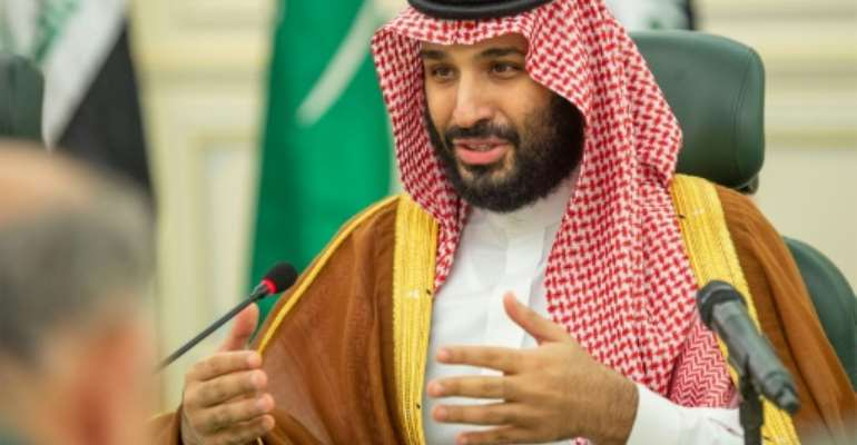 Saudi Crown Prince Mohammed bin Salman, pictured in April 2019, met with General Mohamed Hamdan Dagalo, the deputy chief of Sudan's transitional military council.  By Bandar AL-JALOUD (Saudi Royal Palace/AFP/File)
