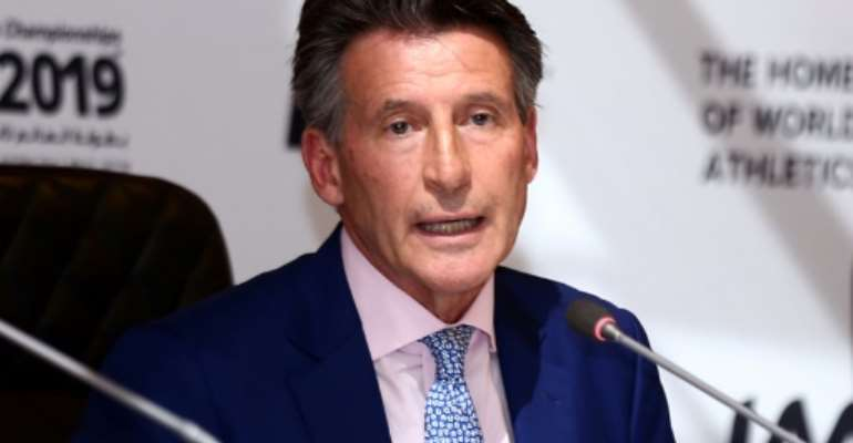 Sebastian Coe was elected IAAF president in 2015.  By STRINGER (AFP)