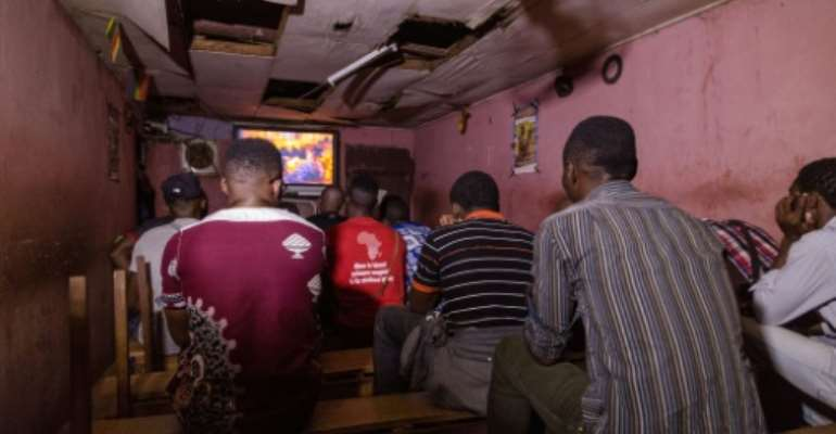 Secret home: The video club in Yaounde is a haven for gay men in a country where same-sex relations are illegal.  By STR (AFP)