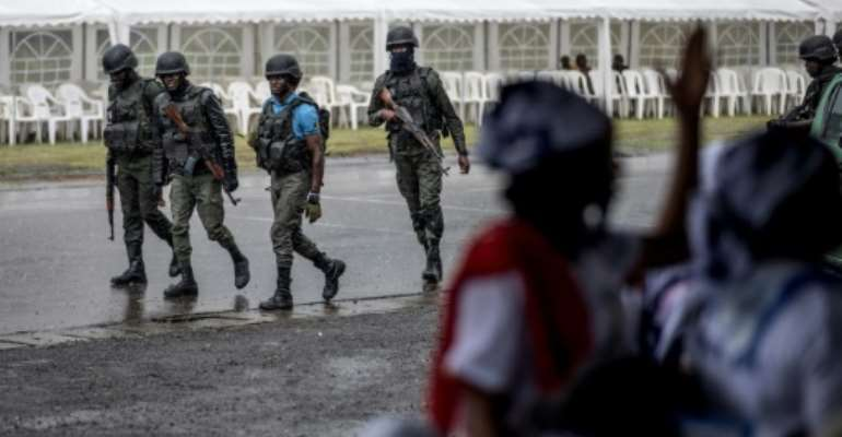 Security has been stepped up in the troubled anglophone regions ahead of Sunday's twice-postponed vote.  By MARCO LONGARI (AFP/File)