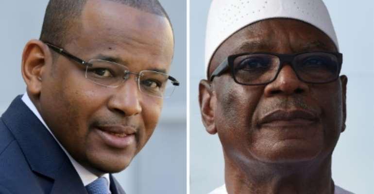 Seized: Malian Prime Minister Boubou Cisse, left, and President Ibrahim Boubacar Keita.  By Ludovic MARIN, Sia KAMBOU (AFP)