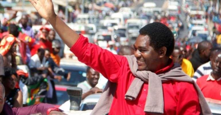 Self-made businessman Hakainde Hichilema has bid for the presidency five times already.  By SALIM DAWOOD (AFP)