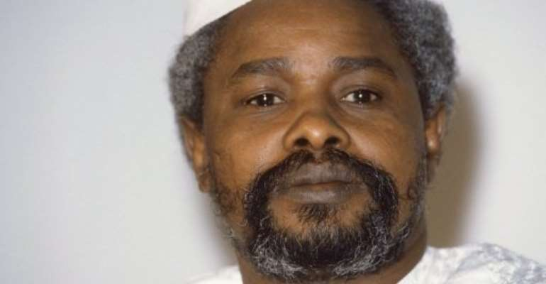 Former Chadian president Hissen Habre seen in January 17, 1987.  By Dominique Faget (AFP/File)