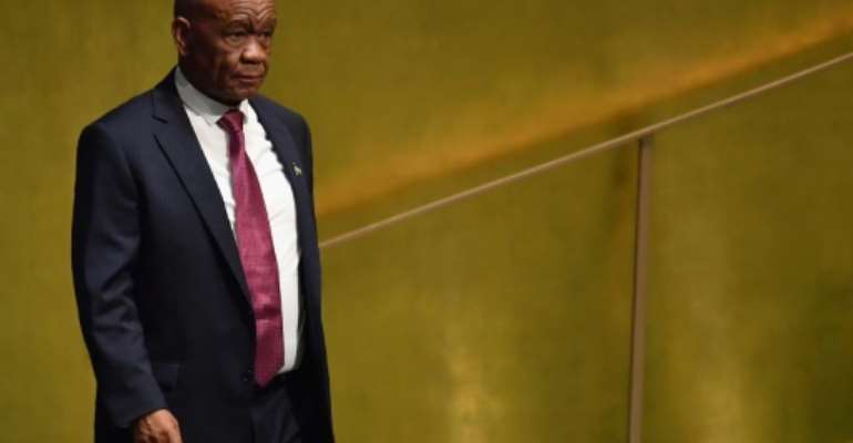 Senior officials in his own party have called on Lesotho Prime Minister Thomas Thabane to step down over the affair.  By Angela Weiss (AFP)