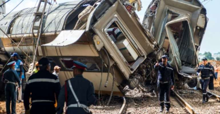 Seven people were killed and 125 injured in the rail accident in the Moroccan town of Bouknadel on October 16, 2018.  By FADEL SENNA (AFP/File)