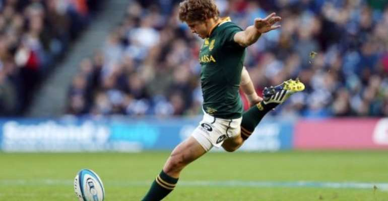 Patrick Lambie, pictured in action on November 17, 2012.  By Ian Macnicol (AFP/File)