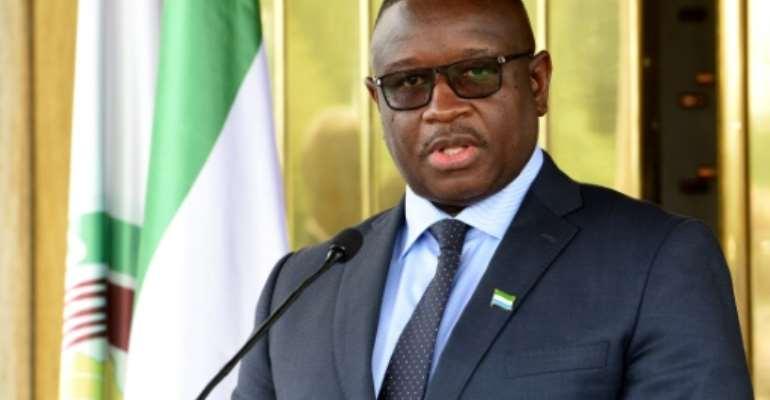 Sierra Leone President Julius Maada Bio says corruption is a 'threat to national development'.  By Sia KAMBOU (AFP/File)