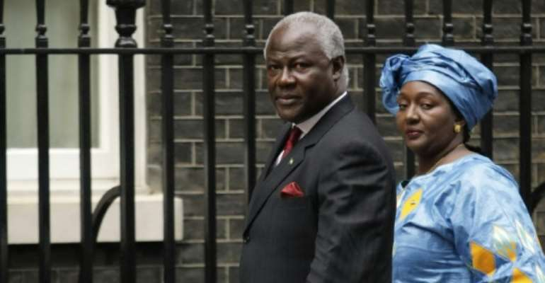 Sierra Leone President Ernest Bai Koroma (L) pictured on January 28, 2008 with his wife Sia who is supporting a law allowing abortion in the first 12 weeks of pregnancy and in cases of rape and incest beyond that.  By Shaun Curry (AFP/File)