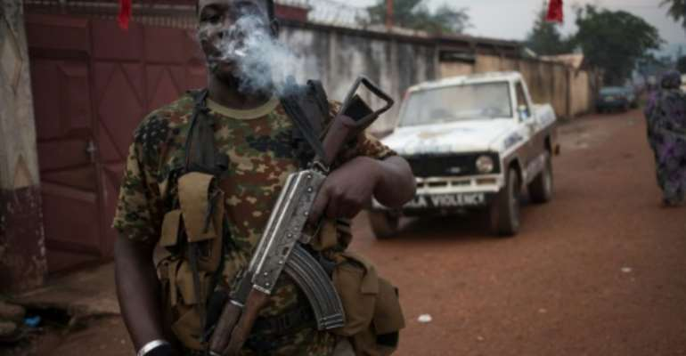 Since 2013, Central African Republic has been blighted by simmering sectarian violence between rival militia groups.  By FLORENT VERGNES (AFP/File)