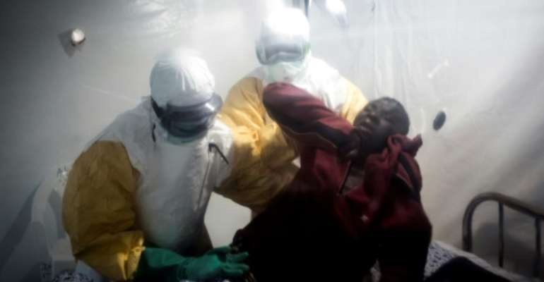 Since it appeared in the DRC, Ebola has killed more than 15,000 people.  By John WESSELS (AFP/File)