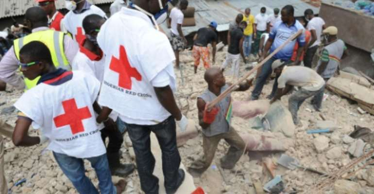 Building collapses are common in Nigeria, particularly during seasonal rains.  By Pius Utomi Ekpei (AFP/File)