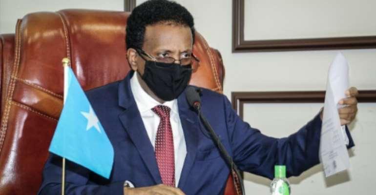 Somalia's President Mohamed Abdullahi Mohamed has been in power since February 2017.  By - (AFP/File)
