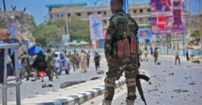 Somalia's security services have struggled to contain Shabaab attacks in Mogadishu, which the Al-Qaeda-linked group has regularly carried out since November 2015.  By Mohamed Abdiwahab (AFP/File)