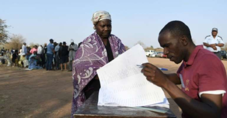 Some voters in the capital Gaborone had waited all night to cast their ballots.  By Monirul Bhuiyan (AFP)