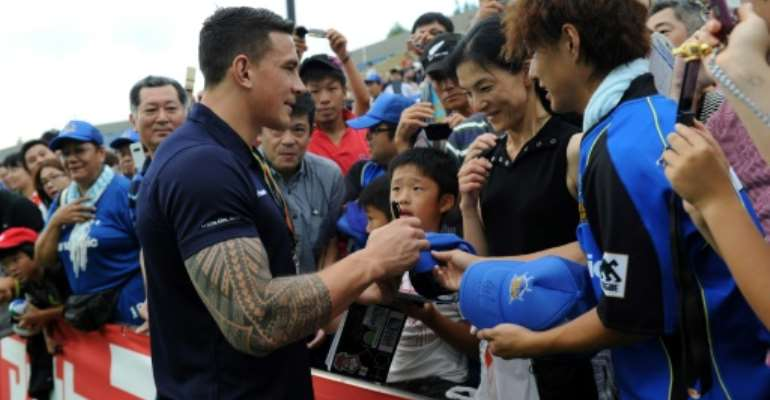 Sonny Bill Williams is available for selection, despite rumours to the contrary.  By Toshifumi KITAMURA (AFP/File)