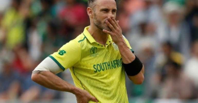 South Africa captain Faf du Plessis.  By Adrian DENNIS (AFP)