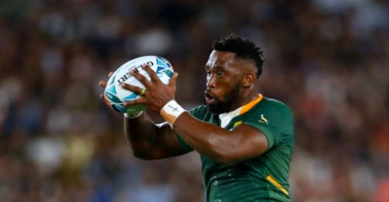 South Africa captain Siya Kolisi during the  2019 Rugby World Cup in Japan.  By Odd ANDERSEN (AFP/File)