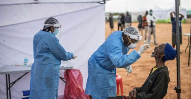 South Africa has the highest number of coronavirus cases on the continent.  By MARCO LONGARI (AFP/File)