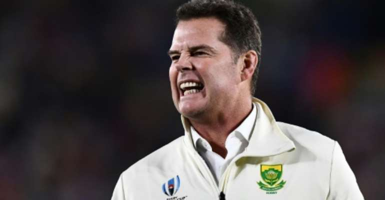 South Africa rugby director Rassie Erasmus was unhappy with the refereeing of Australian Nic Berry in the first Test against the British and Irish Lions last Saturday.  By Anne-Christine POUJOULAT (AFP)