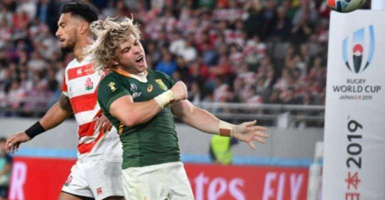 South Africa scrum-half Faf de Klerk scored a try in the second half.  By Kazuhiro NOGI (AFP)