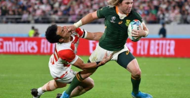 South Africa scrum-half Faf de Klerk was man of the match.  By Kazuhiro NOGI (AFP)