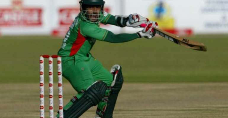 Bangladesh captain Mushfiqur Rahim.  By Jekesai Njikizana (AFP/File)