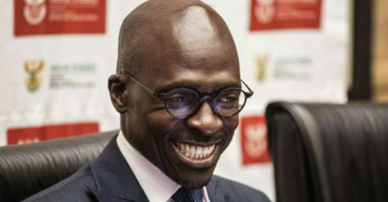 South African Finance Minister Malusi Gigaba last week delivered a mid-term budget that laid bare South Africa's struggle with slow growth, tax income shortfalls, rising debt and high unemployment..  By GIANLUIGI GUERCIA (AFP)