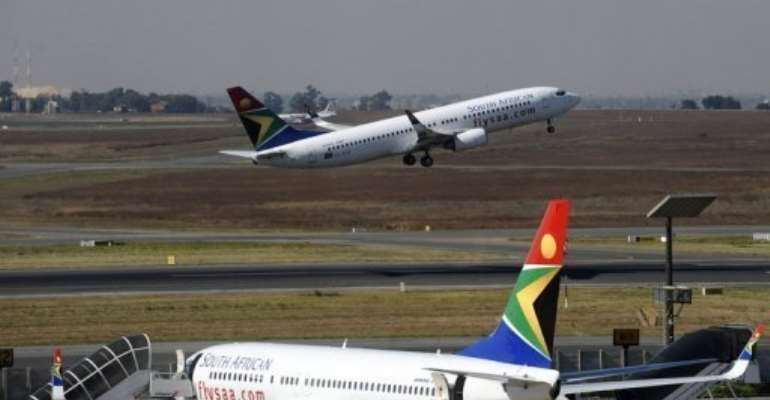 South African Airways said it will make three round-trips a week on the Johannesburg-Beijing route.  By Gianluigi Guercia (AFP/File)