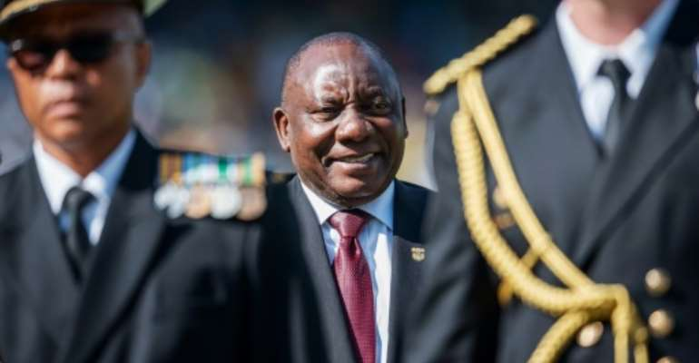 South African President Cyril Ramaphosa has defended controversial fundraising for his campaign to become party leader.  By Michele Spatari (AFP)