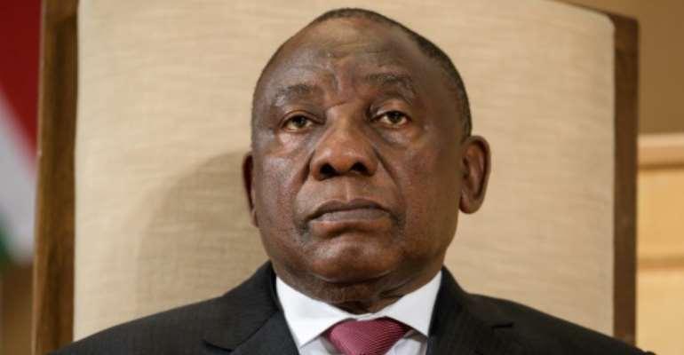South African President Cyril Ramaphosa said