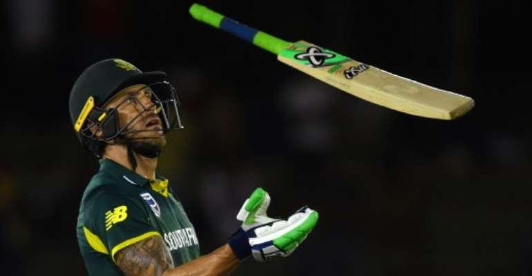 South Africa's captain Faf du Plessis.  By ISHARA S. KODIKARA (AFP/File)