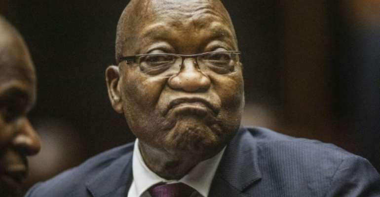 South Africa's former president Jacob Zuma has blamed his enemies for the 2018 death of his son.  By Michele Spatari (POOL/AFP/File)