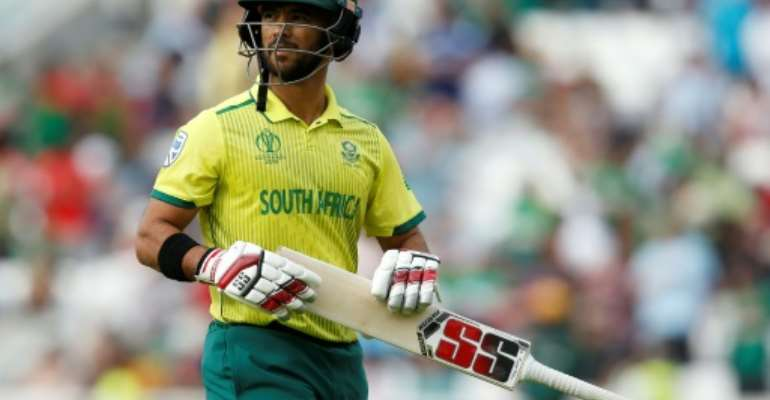 South Africa's JP Duminy is ashamed of his side's poor showing at the Cricket World Cup.  By Ian KINGTON (AFP)