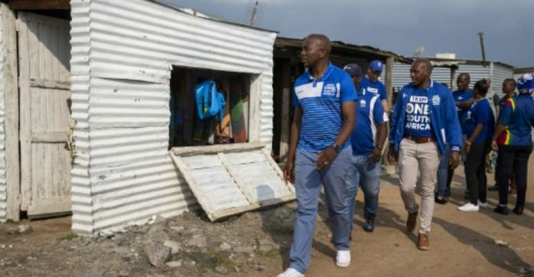 South Africa's main opposition Democratic Alliance leader Mmusi Maimane on the campaign trail.  By WIKUS DE WET (AFP/File)