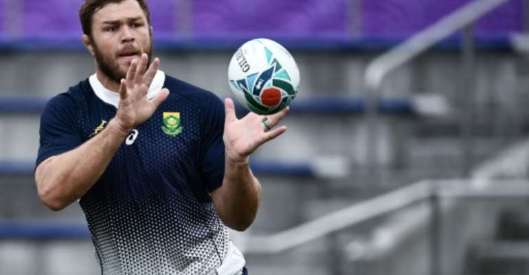 South Africa's number 8 Duane Vermeulen will bring inside knowledge of the Japanese game.  By Anne-Christine POUJOULAT (AFP)