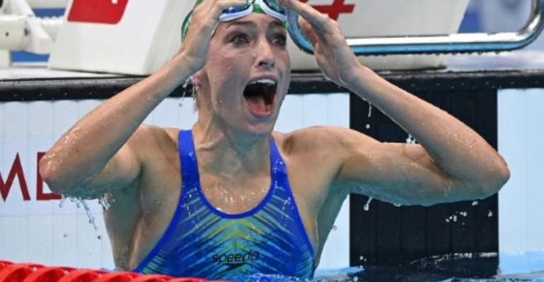 South Africa's Tatjana Schoenmaker won the final of the women's 200m breaststroke on Friday..  By Oli SCARFF (AFP)