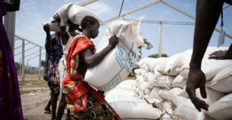South Sudan faces a deep hunger crisis affecting hundreds of thousands of people.  By Simon Wohlfahrt (AFP/File)