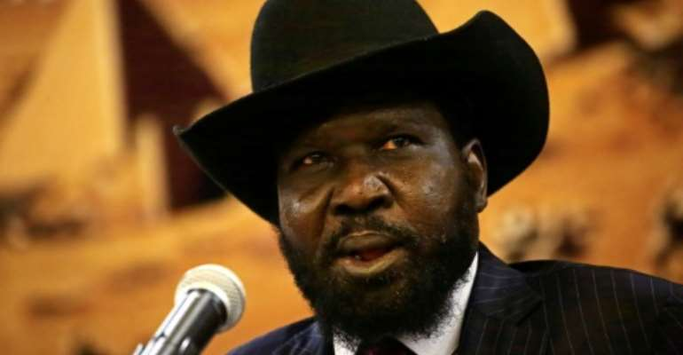 South Sudan's President Salva Kiir has given an order authorising the arrest of the former army chief's bodyguards.  By ASHRAF SHAZLY (AFP/File)