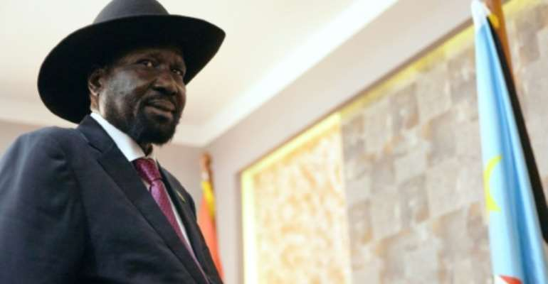 South Sudan's President Salva Kiir met with his rival in rare face-to-face talks.  By Alex McBride (AFP)