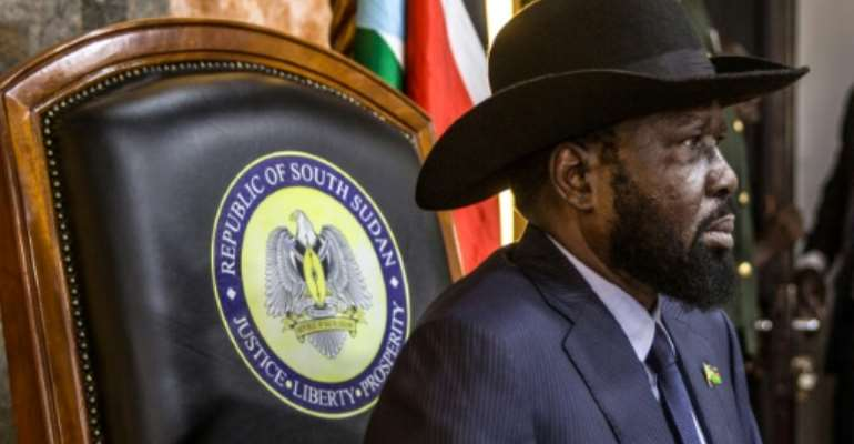 South Sudan's President Salva Kiir wants the talks to focus on how to press ahead with forming a unity government.  By Stefanie Glinski (AFP)