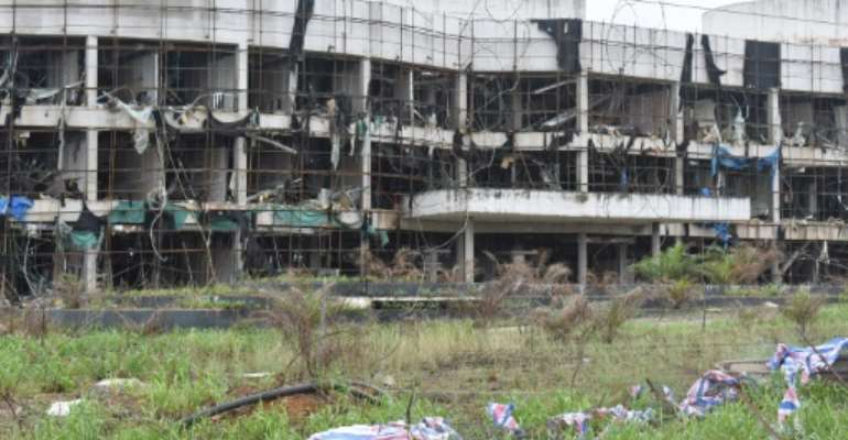 Stocks of explosives in the camp accidentally detonated on March 7, killing 107 people and injuring 615 others.  By - (AFP)