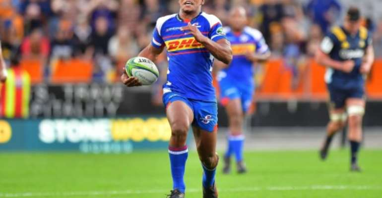 Stormers' Damian Willemse, pictured in March 2018, was among 22 other players chosen for a training camp, suggesting he could be the second choice for the Rugby Championship.  By Marty MELVILLE (AFP/File)
