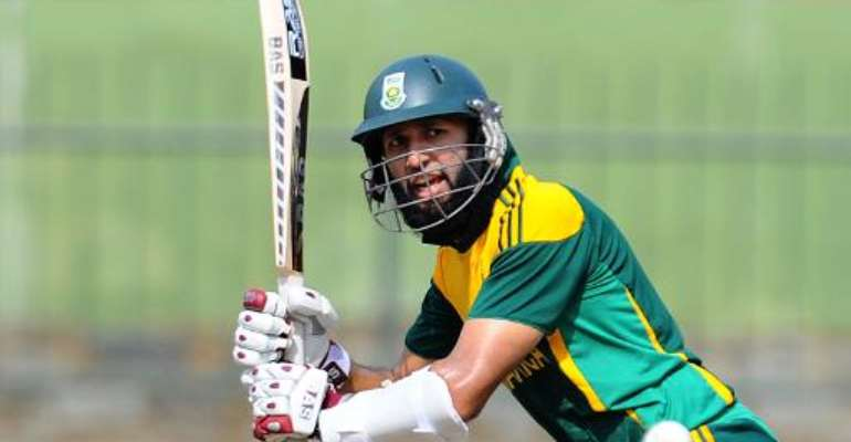 South African cricketer Hashim Amla plays a shot during the fourth One Day International (ODI) cricket match between Sri Lanka and South Africa in Pallekele on July 28, 2013.  By Ishara S.Kodikara (AFP/File)