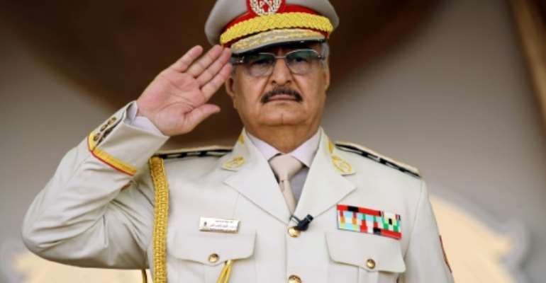Strongman Khalifa Haftar, field marshal of the self-styled Libyan National Army, has rejected repeated calls by the United Nations for resumed peace talks.  By Abdullah DOMA (AFP/File)