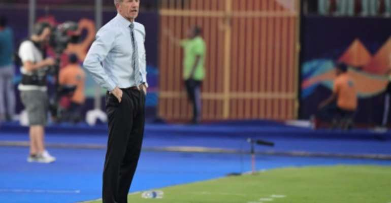 Stuart Baxter's South Africa beat Nigeria away in qualifying for the Africa Cup of Nations.  By JAVIER SORIANO (AFP/File)
