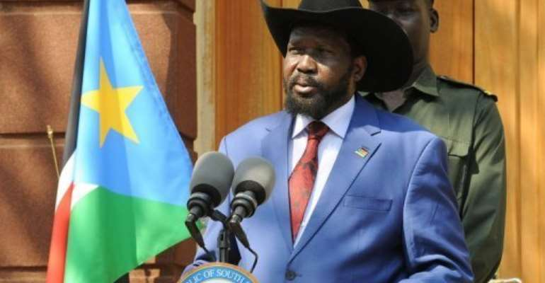 Southern President Salva Kiir.  By Isaac Billy (AFP/UN/File)